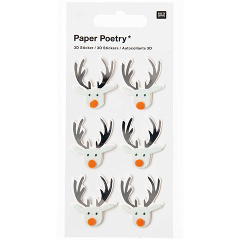 3D Stickers Christmas Reindeers