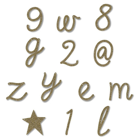 Gold Glitter Letters Numbers and Symbols - Meri Meri