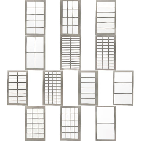 Rico Office Stick White Label 4 Sheets 7x15.5 cm