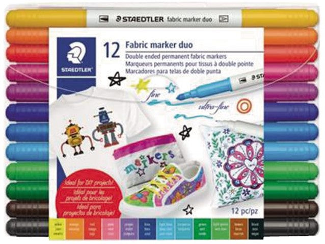 Double-ended Fabric pens 12