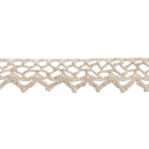 Cotton Lace - 5m x 10mm - Cream