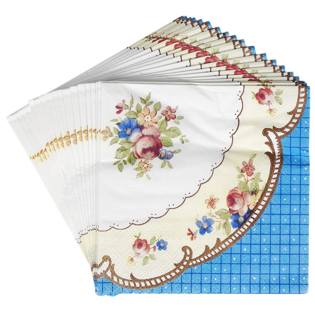 Set Of 20 Regency Tea Party Cocktail Napkins