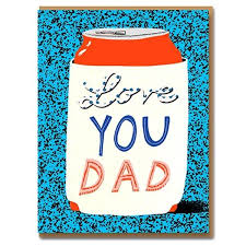 Love You Dad Can card