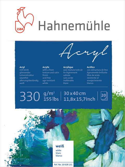 Hahnemuhle Acrylic Paint Board 330gsm 30X40cm