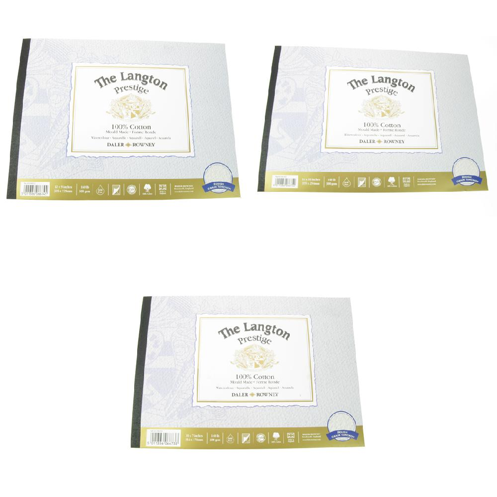 Daler Langton Prestige Watercolour Pad Rough 10 x 7