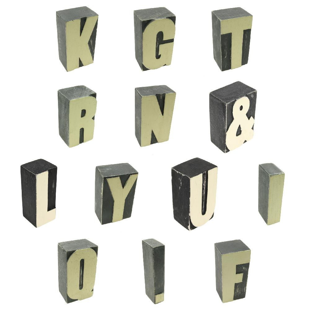 Block Letters & Numbers