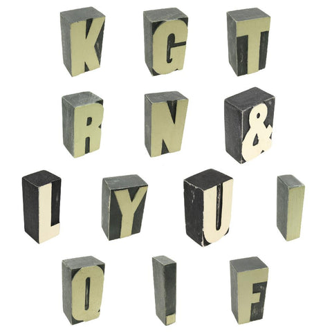 Block Letters & Numbers A