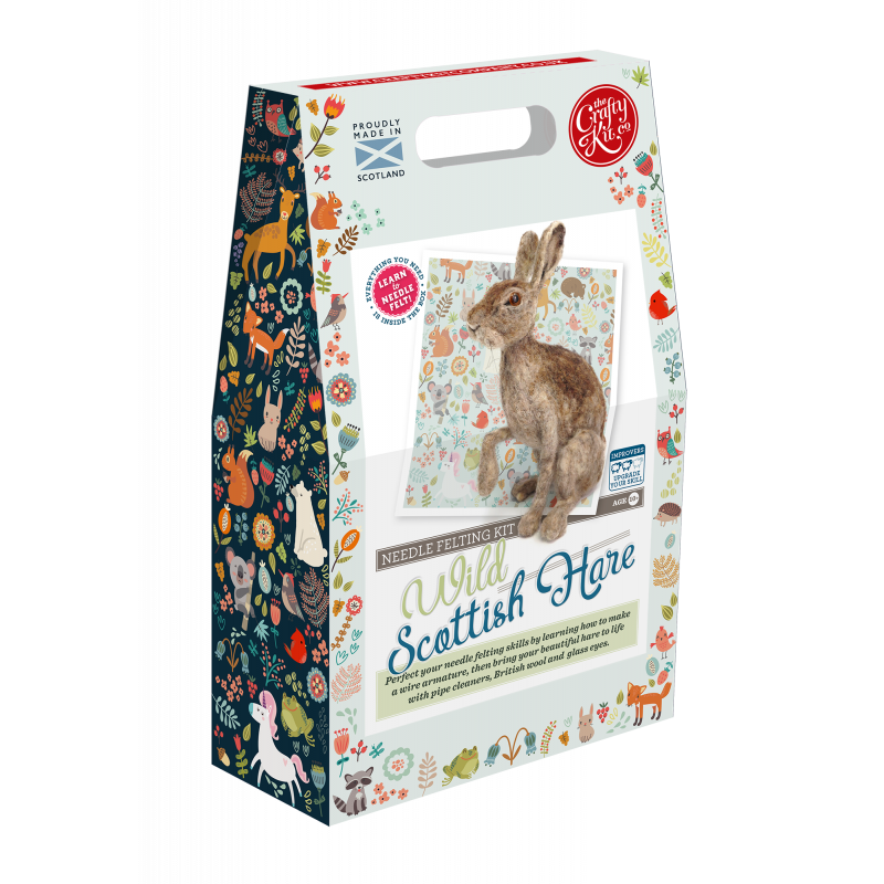 Wild Hare Needle Felting Kit