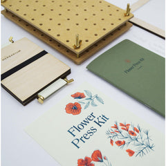 Flower Press Angle Flat Lay