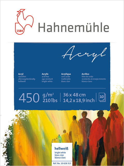 Hahnemuhle Acrylic Paint Board 450gsm 36X48cm