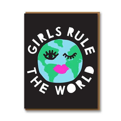 Girls Rule The Word Card