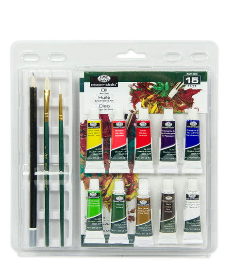 Essentials 15pc Oil Paint Set