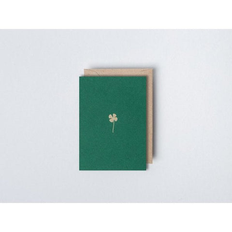 Small Foil Blocked Card - Clover Print