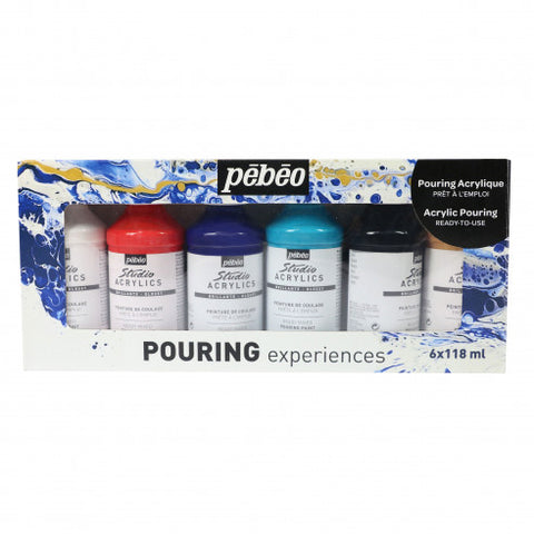 Pebeo Pouring Acrylic Set 6 x 118 ml