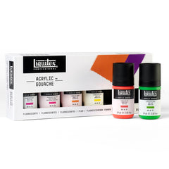 Acrylic Gouache Fluorescents 59ml Set Of 6