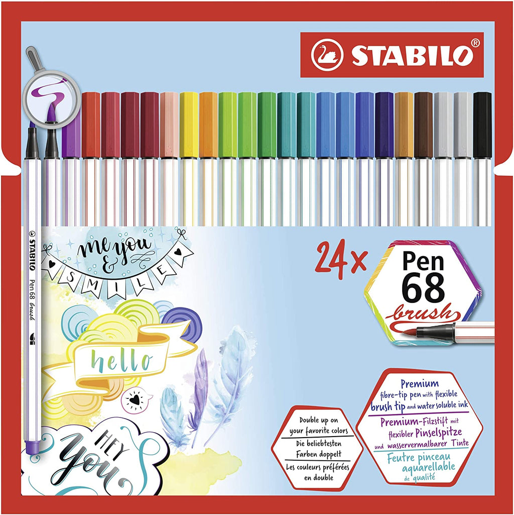 Stabilo Pen 68 Brush Wallet 24