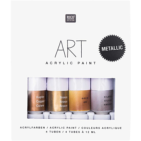 Art Acrylic Set Metallic 4 x 12ml