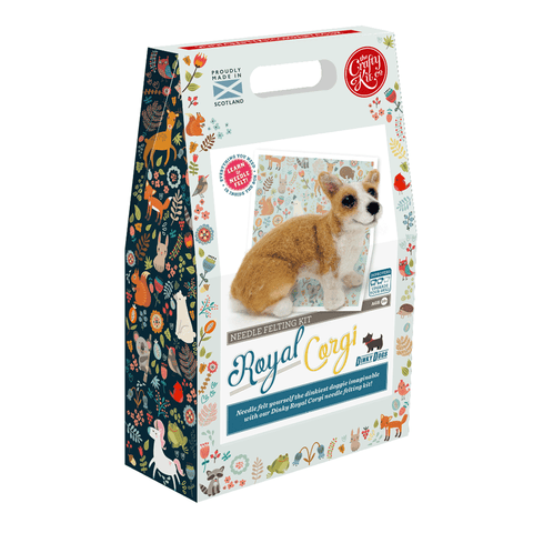 Dinky Dogs Royal Corgi Needle Felting Kit