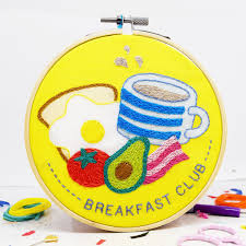 The Make Arcade - Embroidery Kit - Breakfast Club