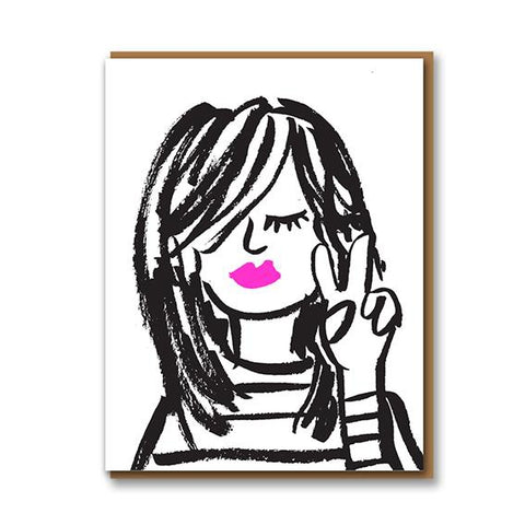 Pink Lips Card