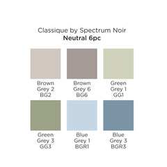 Spectrum Noir Classique Set of 6 Neutral