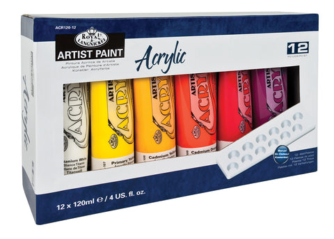 Essentials Acrylic Paint 120ml Set of 12