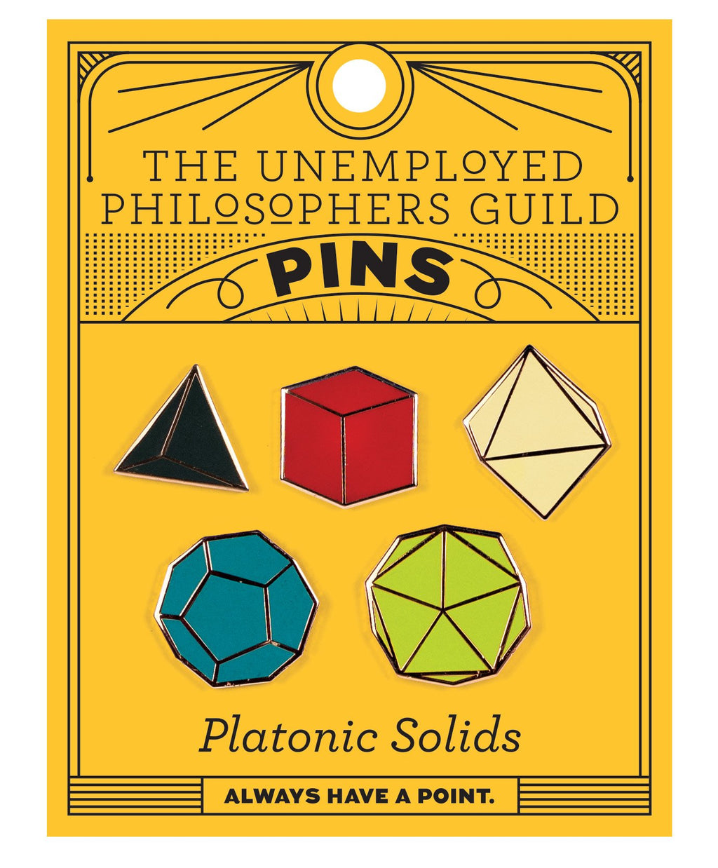 Platonic Solids Pin Badges
