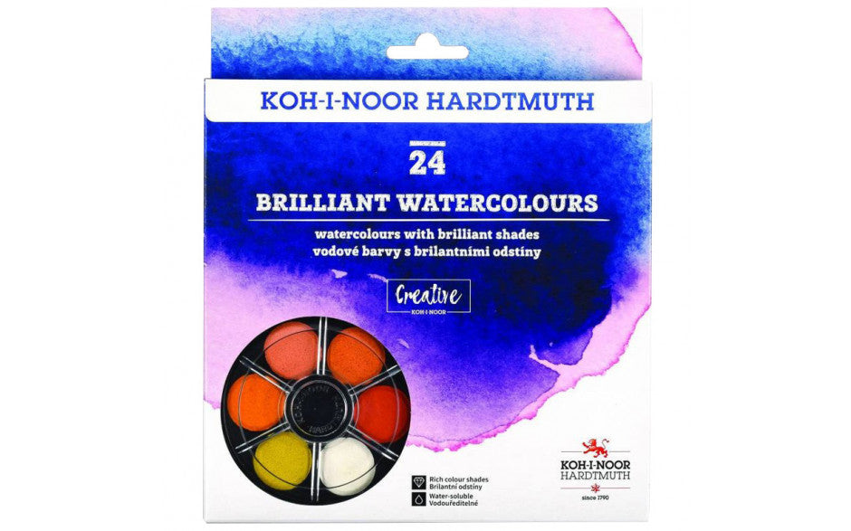 Koh-I-Noor Brilliant Watercolours Tier of 24