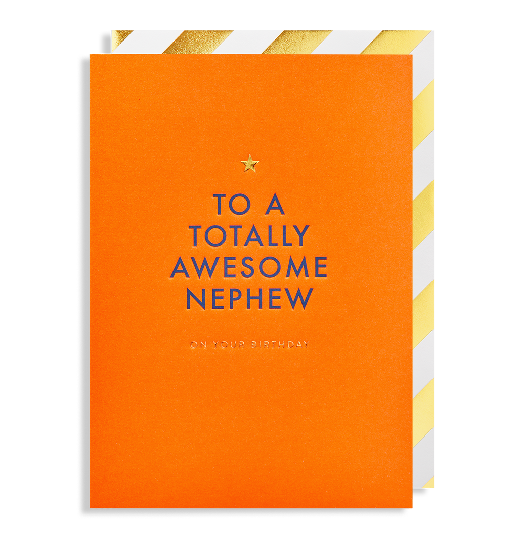 Totally Awesome Nephew Birthday Card