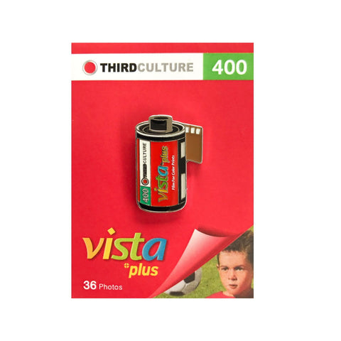 Vista Plus 400 35mm Film Pin Badge