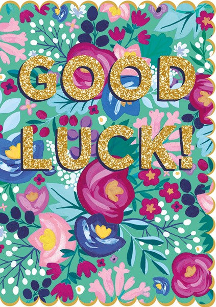 Floral Good Luck Card