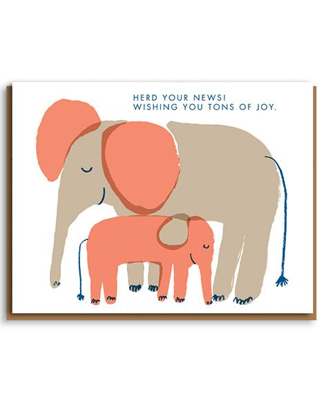 Herd Your News Elephant Card