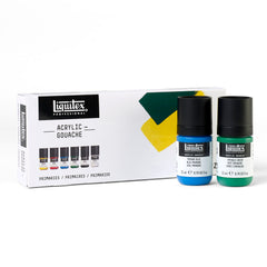 Acrylic Gouache Primaries 22ml Set Of 6