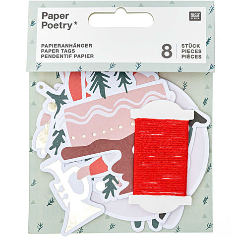 Rico Paper Tags - Christmas Lettering