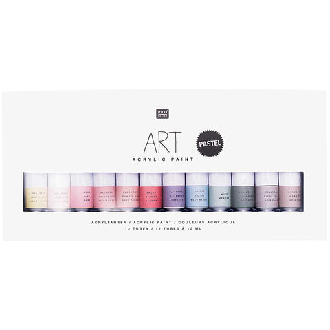 Art Acrylic Set Pastel 12 x 12ml