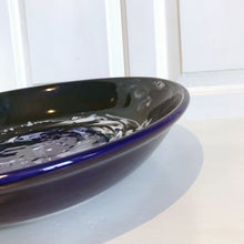 Hand-Painted Large Bowl - Storm