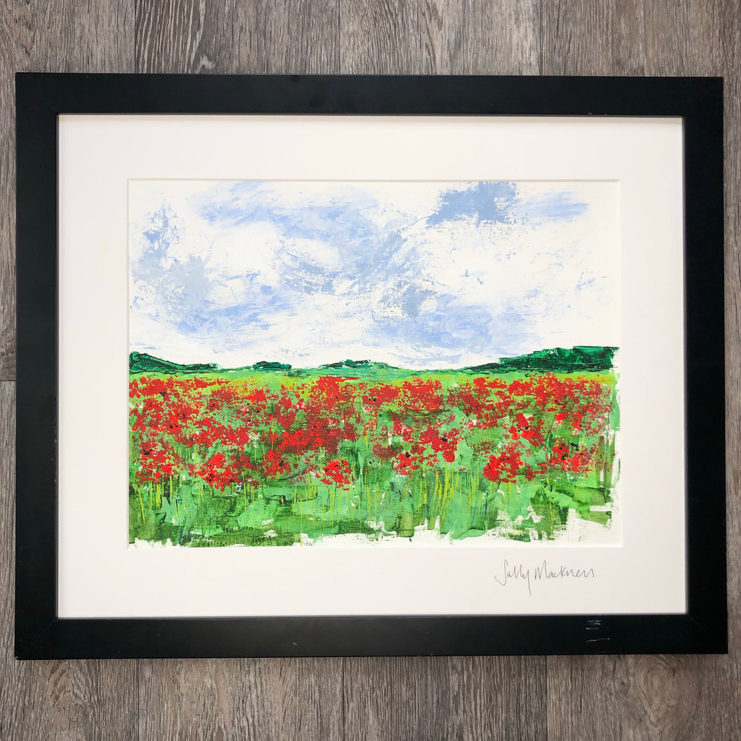 'Dorset Poppies' - original art on paper