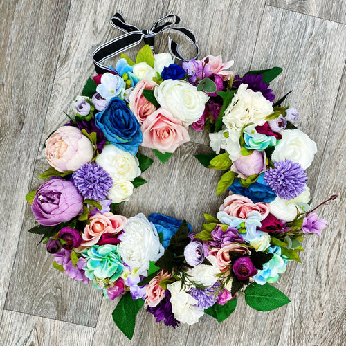 'Out of the Blue' Door Wreath