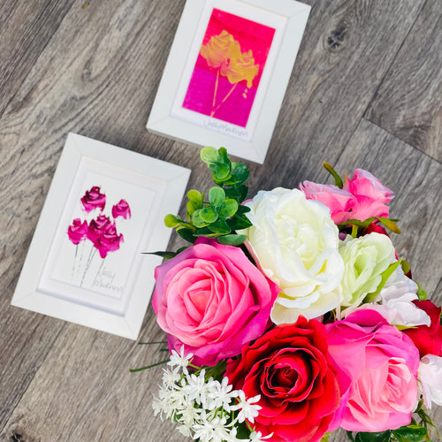 Roses Gift Set - paintings & flowers