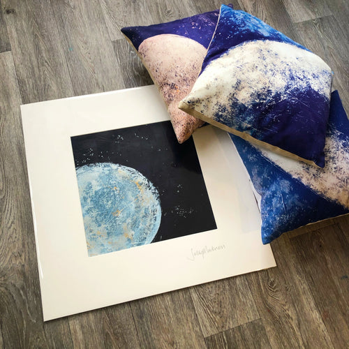 To The Moon & Back' - on paper & mounted - Sally Mackness