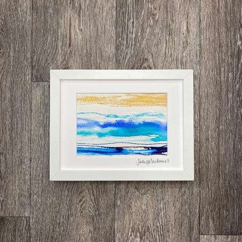 'Scottish Seas #1' - framed painting
