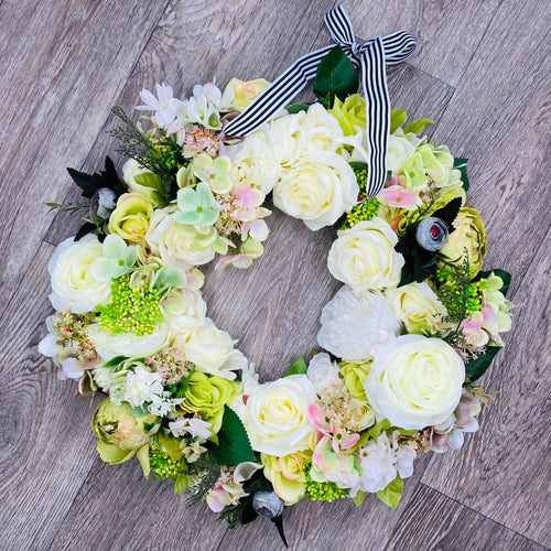 Large 'Spring Fresh' Door Wreath