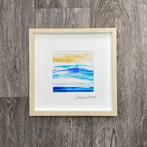 'Scottish Seas #2' - framed painting
