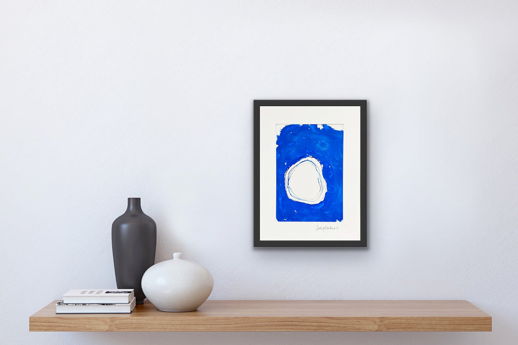 'Into the Blue #2' - framed painting