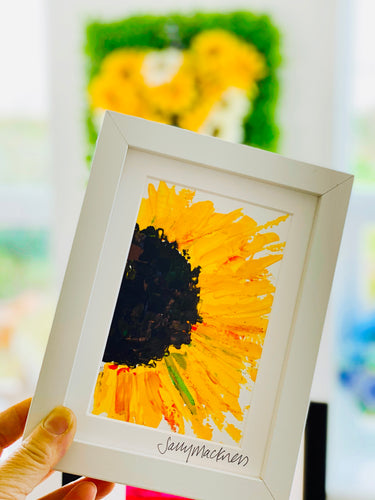 Small Sunflower framed painting