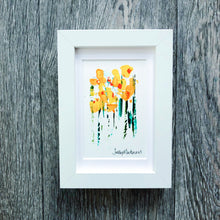 Mini Daffodils (portrait)  - framed - Sally Mackness