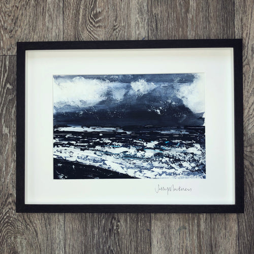'Dark Outlook #2' - framed, original painting - Sally Mackness