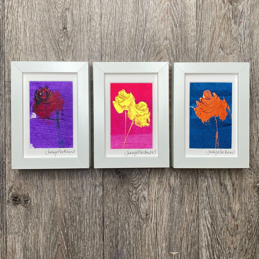 Trio of Roses - framed