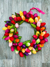 'Tulip Explosion'' Door Wreath