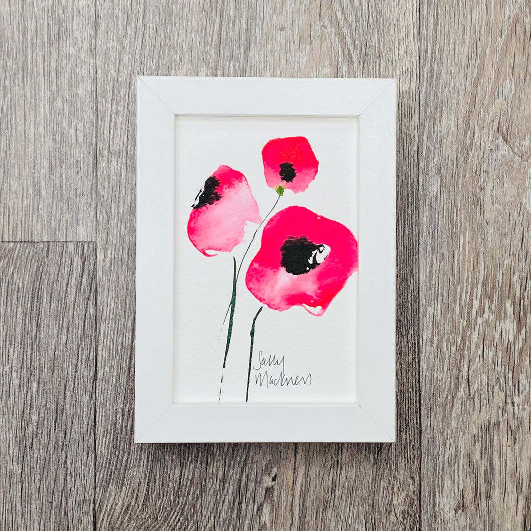 Red Poppies - framed painting